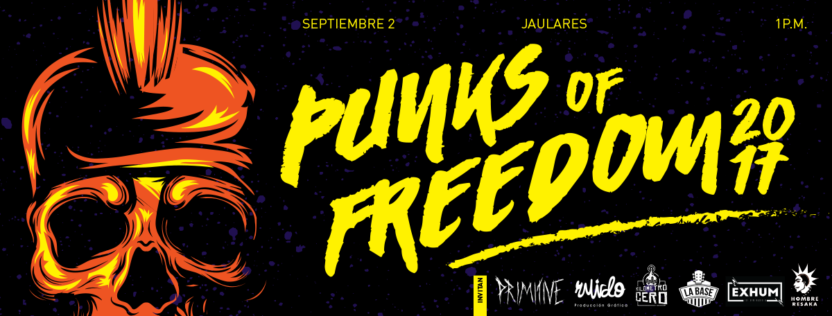Punks of Freedom en el muro