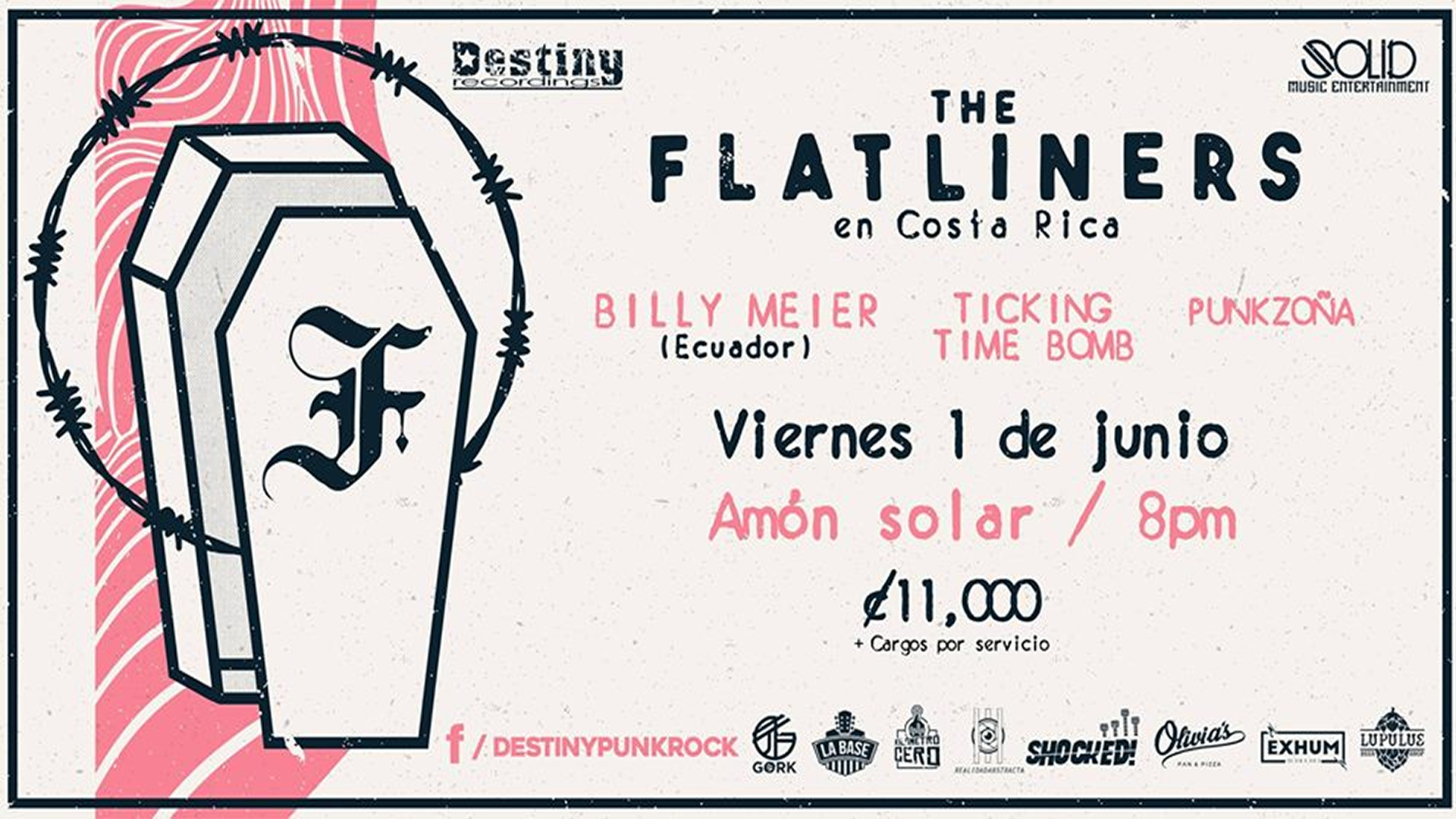 The Flatliners vuelve a Costa Rica